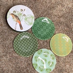 """Other - Four Assorted 6"""" Glass Plates"""